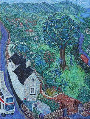 Double Image Painting - Wicklow Town - A Glimpse Of Ireland by Anna Yurasovsky