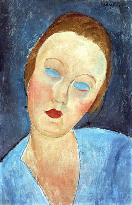 Red Lipstick Painting - Wife Of The Painter Survage by Amedeo Modigliani