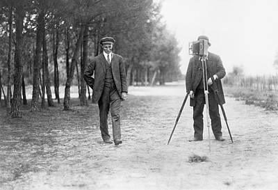Wilbur Wright And Photographer Print by Library Of Congress
