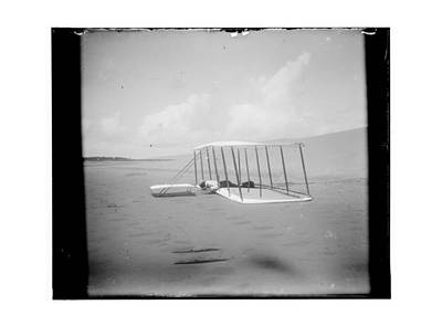 Flying Photograph - Wilbur Wright On Glider by MMG Archives