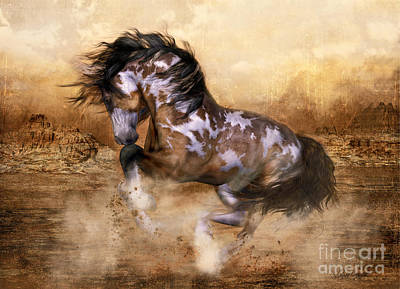 Signed Digital Art - Wild And The Free by Shanina Conway
