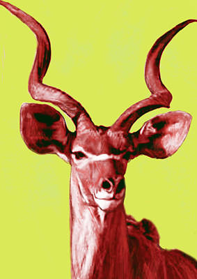 Wild Animal Stylised Pop Art Drawing Potrait Poser Print by Kim Wang
