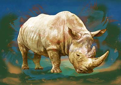 Wild Animal Stylised Pop Art Drawing Potrait Poster Print by Kim Wang