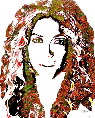 Shakira Digital Art - Wild Art Shakira by Dalon Ryan