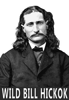 Wild Bill Hickok Old West Legend Print by Daniel Hagerman