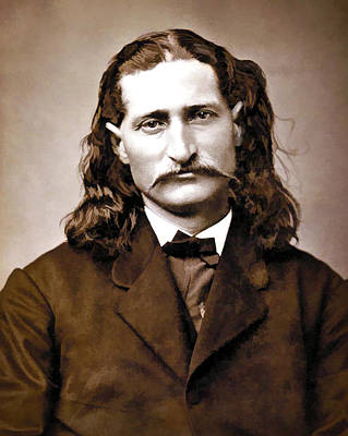 Wild Bill Hickok Painterly Print by Daniel Hagerman