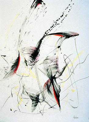 Iridescent Mixed Media - Wild Dancing by Asha Carolyn Young