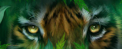 Tiger Mixed Media - Wild Eyes - Bengal Tiger by Carol Cavalaris