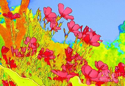 Wild Flowers In Bloom Print by Julie Lueders