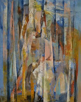 Cubism Painting - Wild Horses Abstract by Michael Creese