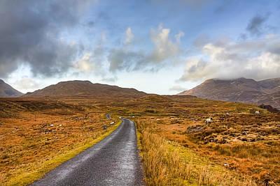 Wild Landscape Of Connemara Ireland Print by Mark Tisdale
