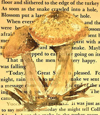 Wild Mushrooms Warm And Subtle Print by Beverley Harper Tinsley