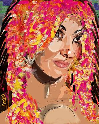 Beautiful Dj Girl Digital Art - Wild Night by Michael Bartlett