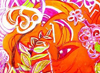 Outrageous Mixed Media - Wild Orange Woman by Anne-Elizabeth Whiteway