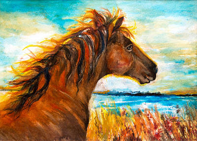 Wild Pony Of Assateague Island Original by Patricia Allingham Carlson