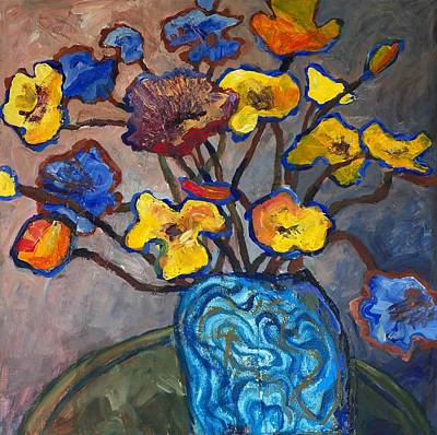 Impressionist Mixed Media - Wild Poppies by Yvonne Gaudet