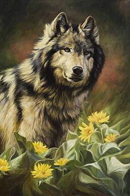 Gray Wolf Painting - Wild Spirit by Lucie Bilodeau