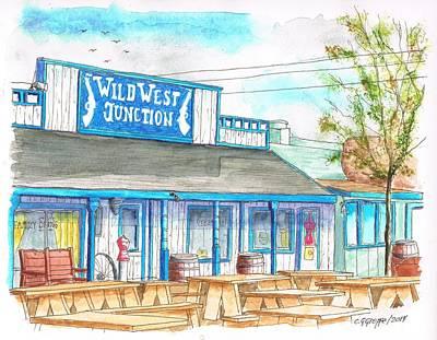 Wild West Junction Saloon In Route 66, Williams, Arizona Print by Carlos G Groppa