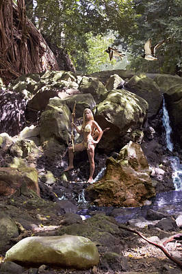 Warrior Goddess Photograph - Wild Woman 2 by Don Ewing