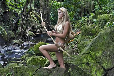 Warrior Goddess Photograph - Wild Woman 4 by Don Ewing