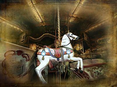Wild Wooden Horse Print by Barbara Orenya