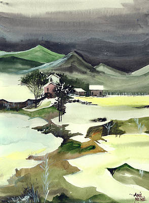 Bob Ross Painting - Wilderness by Anil Nene