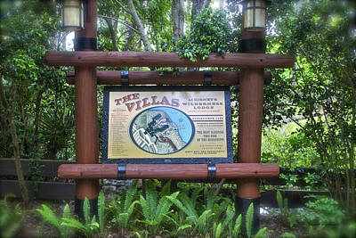 Wilderness Lodge Sign Print by Thomas Woolworth