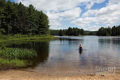Landscape Photograph - Wilderness Morning Swim by Barbara McMahon