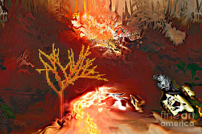 Burning Bush Digital Art - Wildfire  by Gabriele Pomykaj
