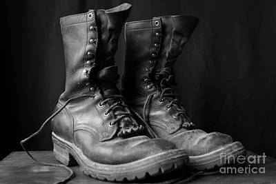Wildland Fire Boots Still Life Print by Kerri Mortenson