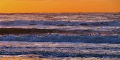 Sandpiper Photograph - Wildwood Beach Golden Sky by David Dehner