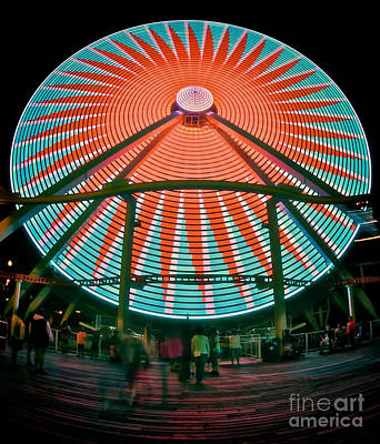 Wildwood's Giant Wheel Print by Mark Miller