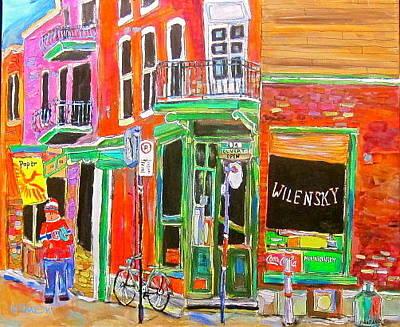 Old Jewish Area Painting - Wilensky Spring by Michael Litvack