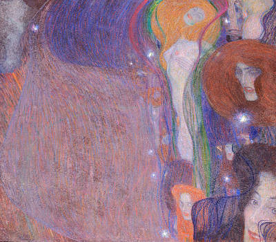 Erotica Painting - Will O The Wisps by Gustav Klimt