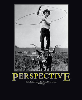 Will Rogers Photograph - Will Rogers Perspective by Retro Images Archive