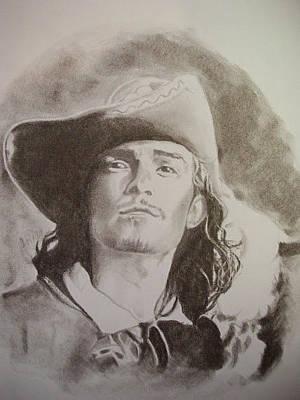 Orlando Bloom Drawing - Will Turner by Emily Maynard