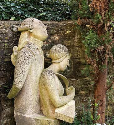 Stellar Photograph - William And Caroline Herschel Sculpture by Sheila Terry