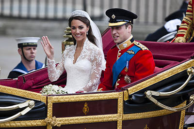 Catherine Middleton Photograph - William And Kate Royal Wedding by Andy Myatt