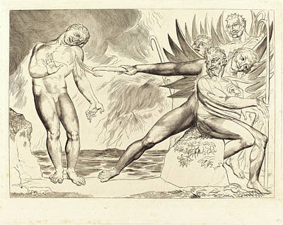 1757-1827 Drawing - William Blake, British 1757-1827, The Circle Of The Corrupt by Litz Collection
