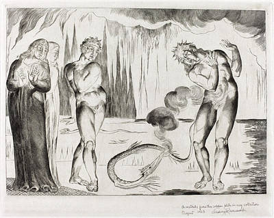 1757-1827 Drawing - William Blake British, 1757 - 1827, The Circle by Quint Lox