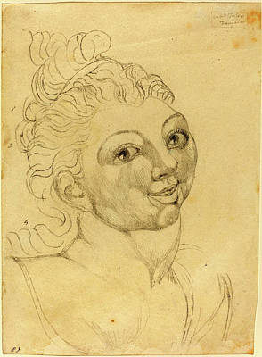1757-1827 Drawing - William Blake, British 1757-1827, Wat Tylers Daughter by Litz Collection