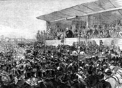 William Gladstone At A Rally Print by Collection Abecasis