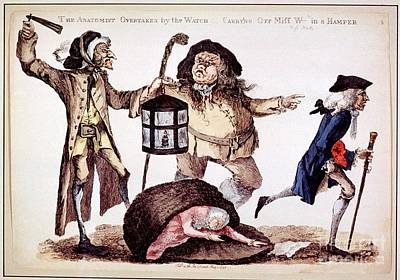 William Hunter And Body Snatching, 1773 Print by National Library Of Medicine