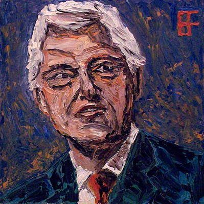 Barack Obama Oil Painting - William Jefferson Clinton by Allen Forrest