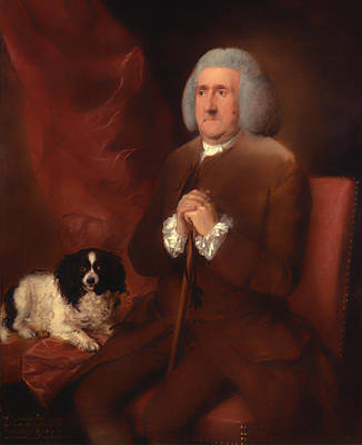 Senior Dog Painting - William Lowndes - A Auditor Of His Majesty's Court Of Exchequer  by Mountain Dreams