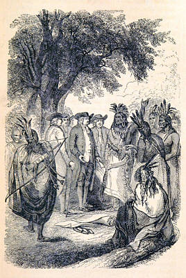 William Penns Treaty With The Indians Print by British Library