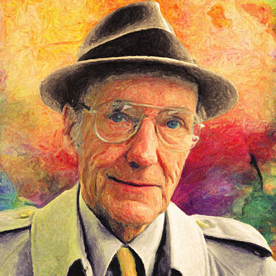 Cocaine Painting - William S. Burroughs by Taylan Apukovska