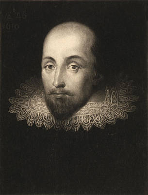 Seventeenth Century Drawing - William Shakespeare  by Cornelius Jansen