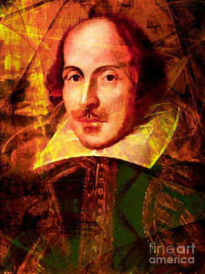 William Shakespeare 20140122 Print by Wingsdomain Art and Photography