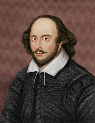 William Shakespeare Print by Maria Platt-evans